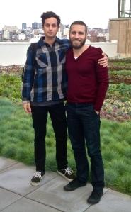 Riccardo Bonetti con Joseph Killian, facility manager di Twitter