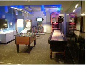 La sala giochi di Twitter fotografata da Riccardo Bonetti