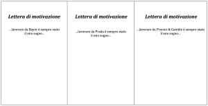 Letteramotivazione