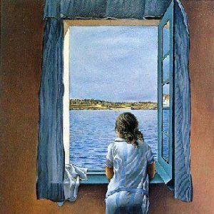 Ragazza alla finestra di Salvador Dalì (1925)
